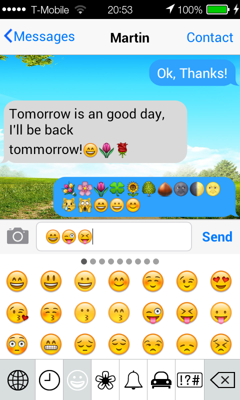 iPhone Message Emoji plugin screenshot 2