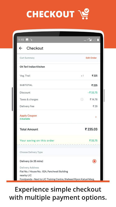 foodpanda: Fastest food delivery, amazing offers screenshot 5