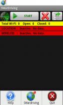 SWardriving. Wireless Wi-Fi Wardriving. Screenshot