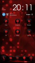 Next Launcher Theme MagicRed Screenshot