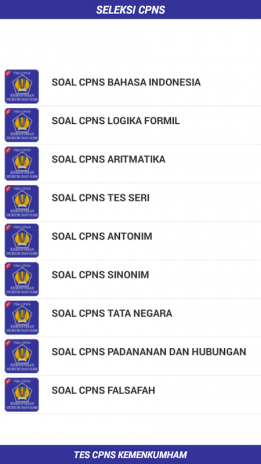 Soal Tes Cpns Kemenkumham 2018 1 0 Download Apk For Android