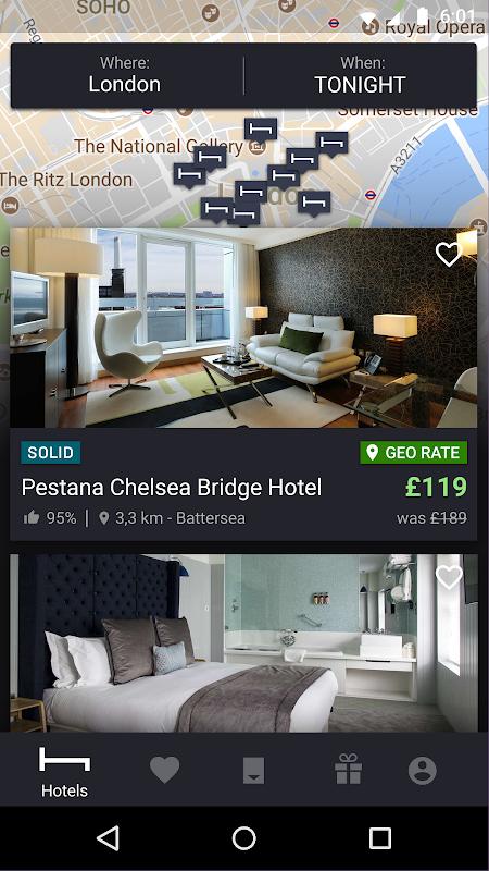 HotelTonight - Book amazing deals at great hotels screenshot 2