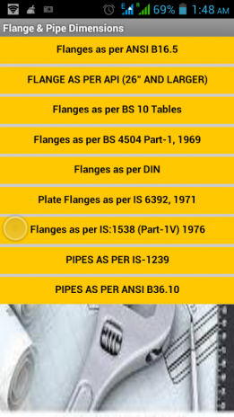 Flange & Pipe Dimensions 1 3 Download APK for Android - Aptoide