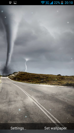 Tornado 3d Live Wallpaper Screenshot 1