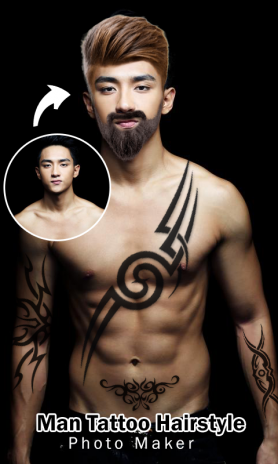Man Tattoo Hairstyle Editor 15 Download Apk For Android Aptoide