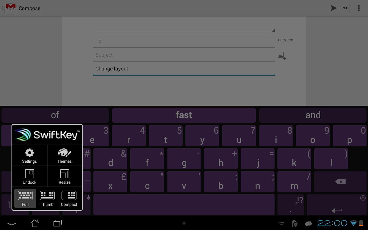 SwiftKey 3 Keyboard screenshot 1