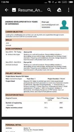 Resume PDF Maker / CV Builder 1.8 Download APK for Android - Aptoide