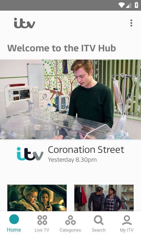 ITV Hub screenshot 1