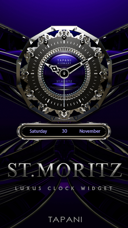 St. Moritz Luxury Clock Widget screenshot 1