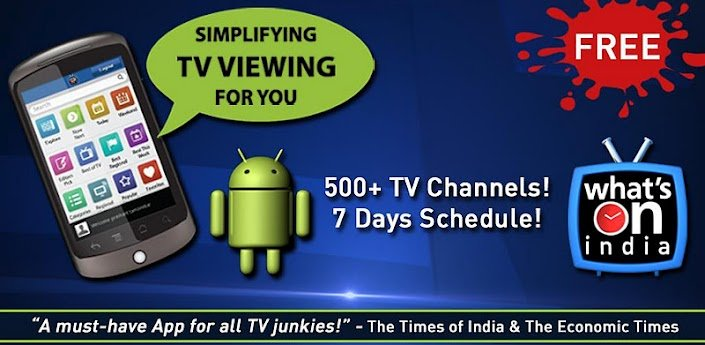 WHAT'S-ON-INDIA : TV Guide App 2 0 5 Download APK for