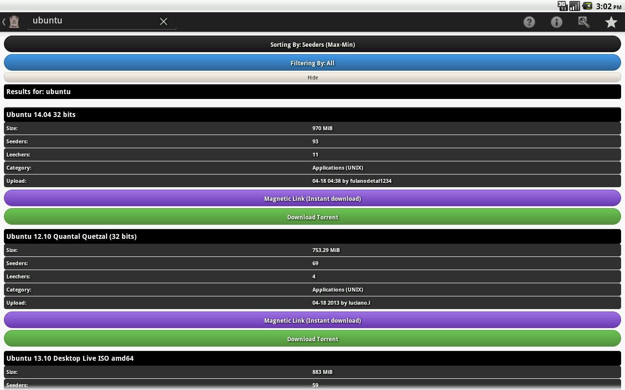 Torrent Browser Pro screenshot 2