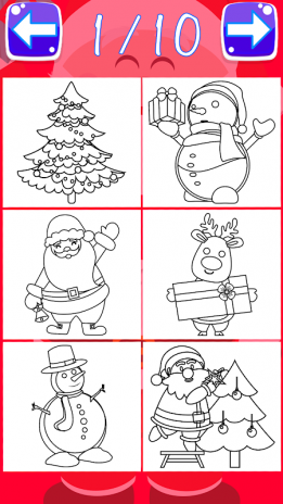 christmas coloring book pages santa coloring game screenshot 5