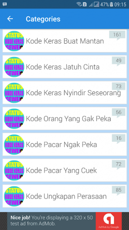 Status Kode Keras Cewek Cowok 11 Baixar Apk Para Android