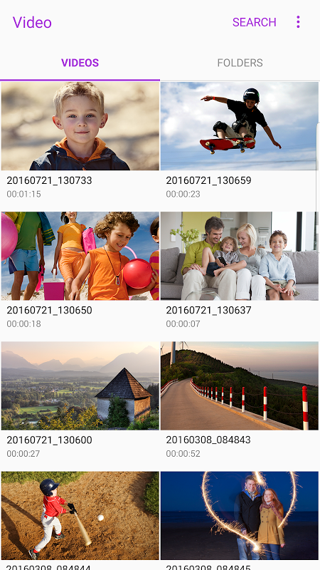 Samsung Video Library screenshot 1