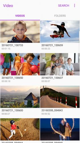 Samsung Video Library screenshot 1