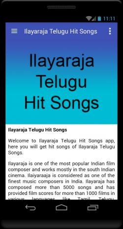 Ilayaraja Telugu Hit Songs 1 0 Download APK for Android