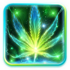 neon smoke weed live wallpaper icon