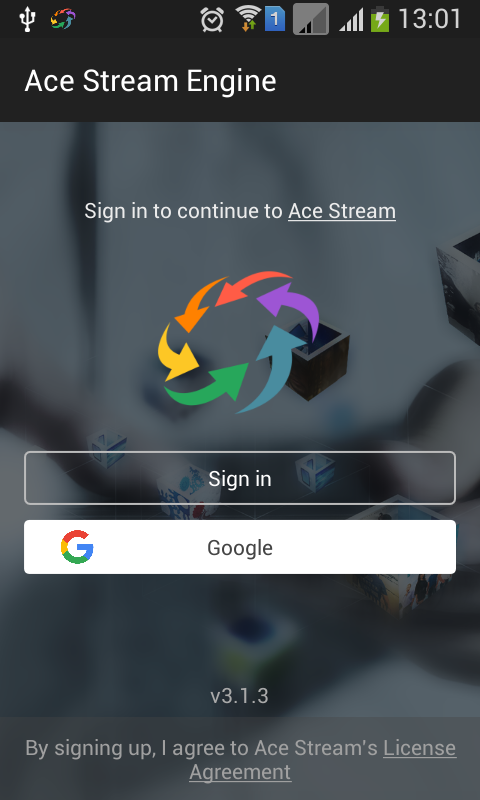 Ace Stream Engine for Android TV screenshot 1