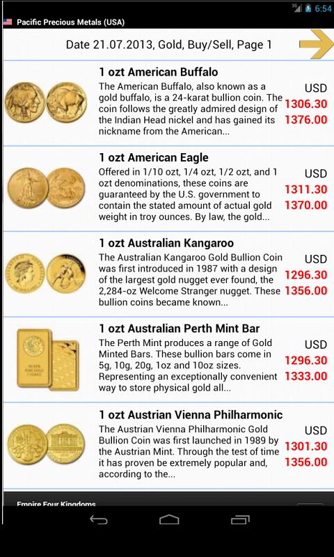 Gold Investment screenshot 2