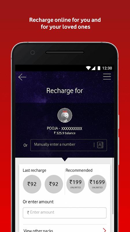 MyVodafone (India) - Online Recharge & Pay Bills screenshot 2