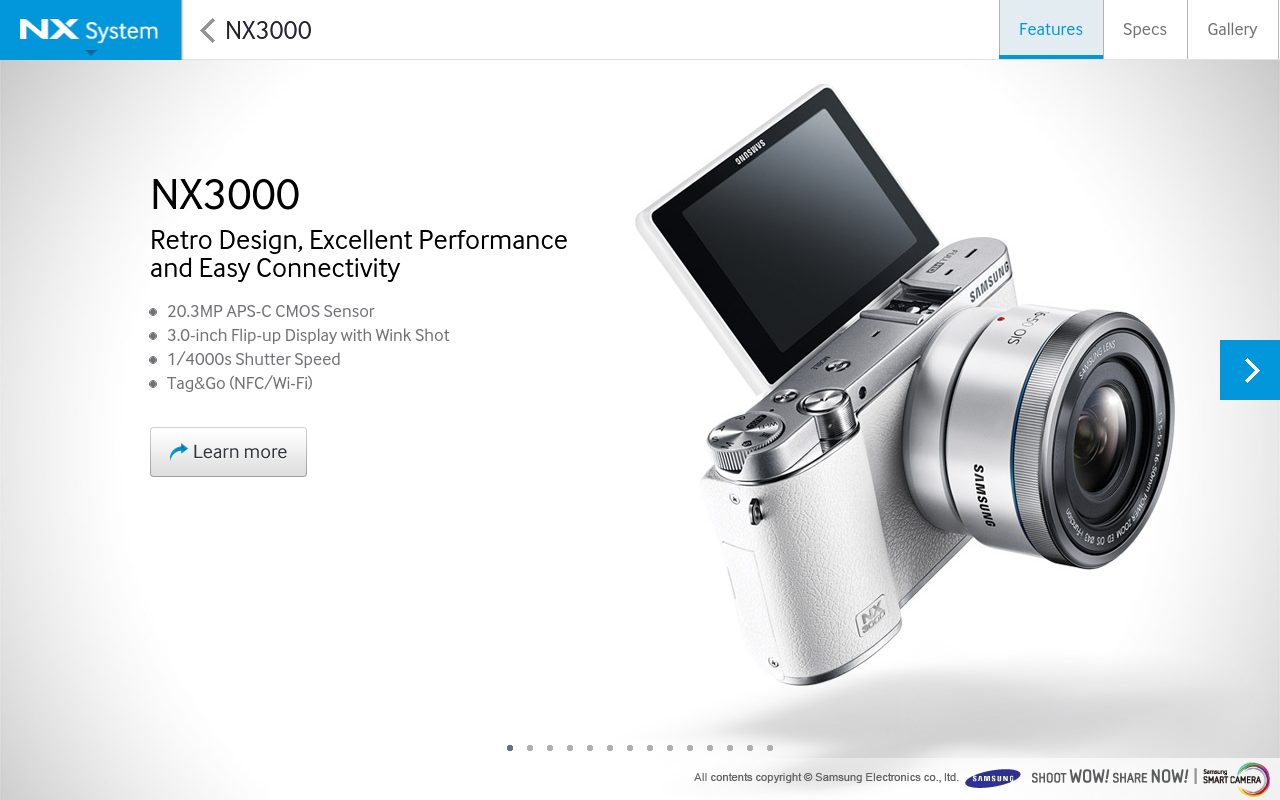 Samsung SMART CAMERA NX screenshot 1