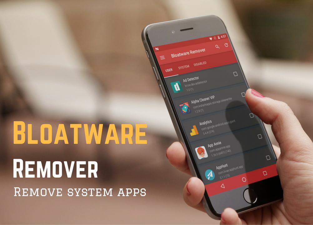 Bloatware Remover Free [Root] screenshot 1