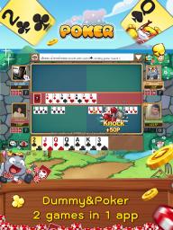 Dummy & Toon Poker Texas slot Online Card Game screenshot 14
