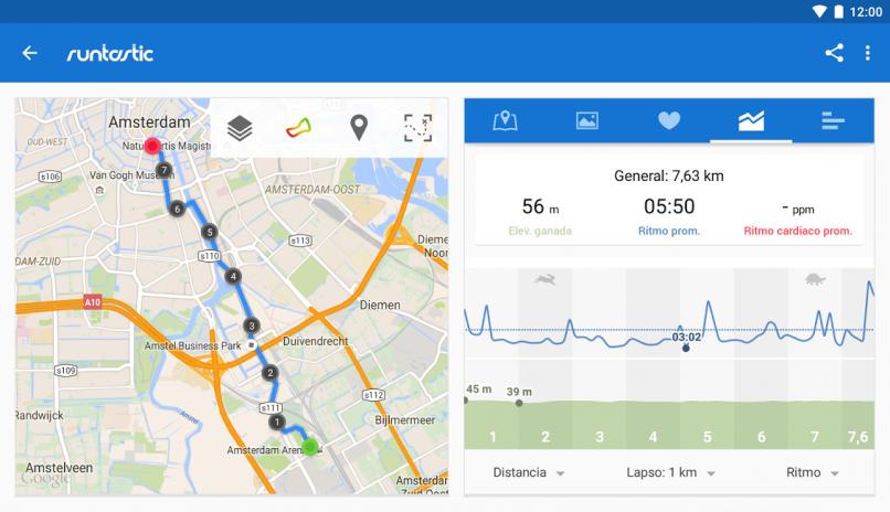 app de ejercicio runtastic pro