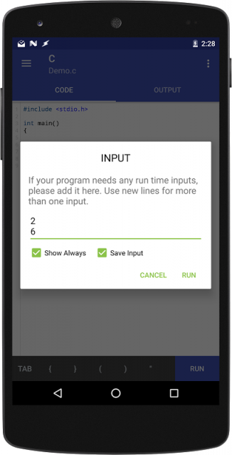 Online C Compiler For Android