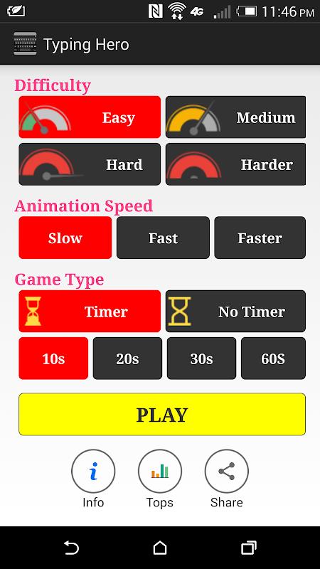 herói Typing screenshot 1
