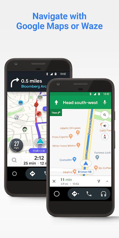 Android Auto - Google Maps, Media & Messaging screenshot 2