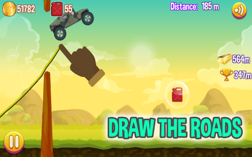 Road Draw: Climb Your Own Hills screenshot 2
