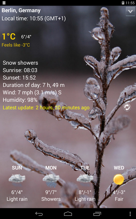 Sense Flip Clock & Weather (Ad-free) screenshot 1