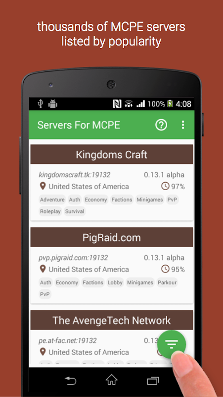 Minecraft PE dating server 0.15.0