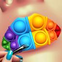 Labbra fatte! Soddisfacente gioco 3D ASMR Lip Art