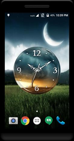 Tornado Clock Live Wallpaper Screenshot 3