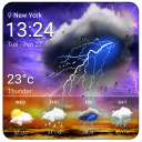widget orologio e meteo