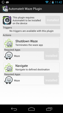 AutomateIt Waze Plugin 1 0 3 Download APK for Android - Aptoide