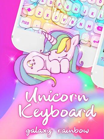 Unicorn Keyboard: Free Galaxy Rainbow Girly Themes 2 1