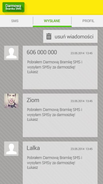 BRAMKA DO SMS