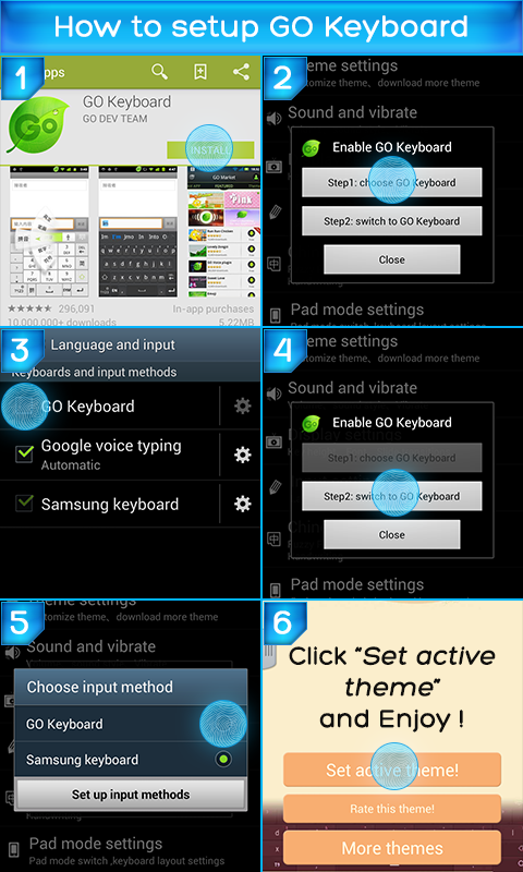 Blue Light Theme for Keyboard screenshot 1
