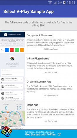 Qt 5 Showcases by V-Play Apps 2 1 Descargar APK para Android