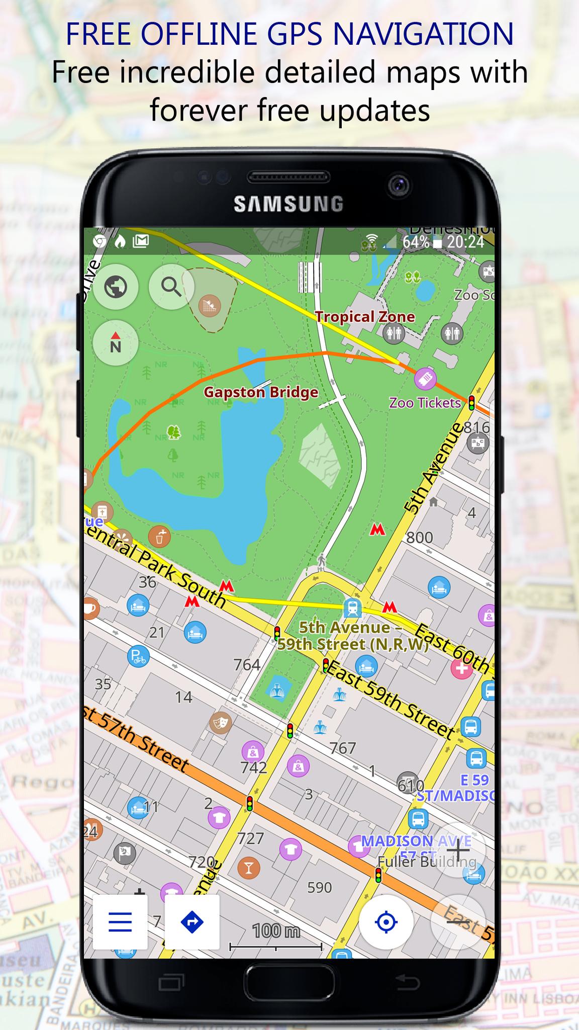 Navigator PRO: Offline GPS Maps screenshot 1