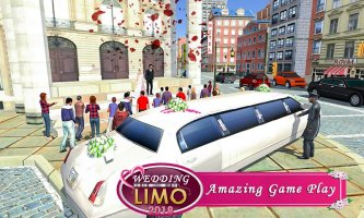 Bridal Limousine Car Driving: Luxury Limo Driver Screen