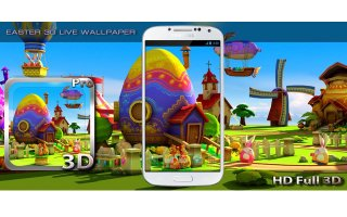 Easter 3D Live Wallpaper Screen