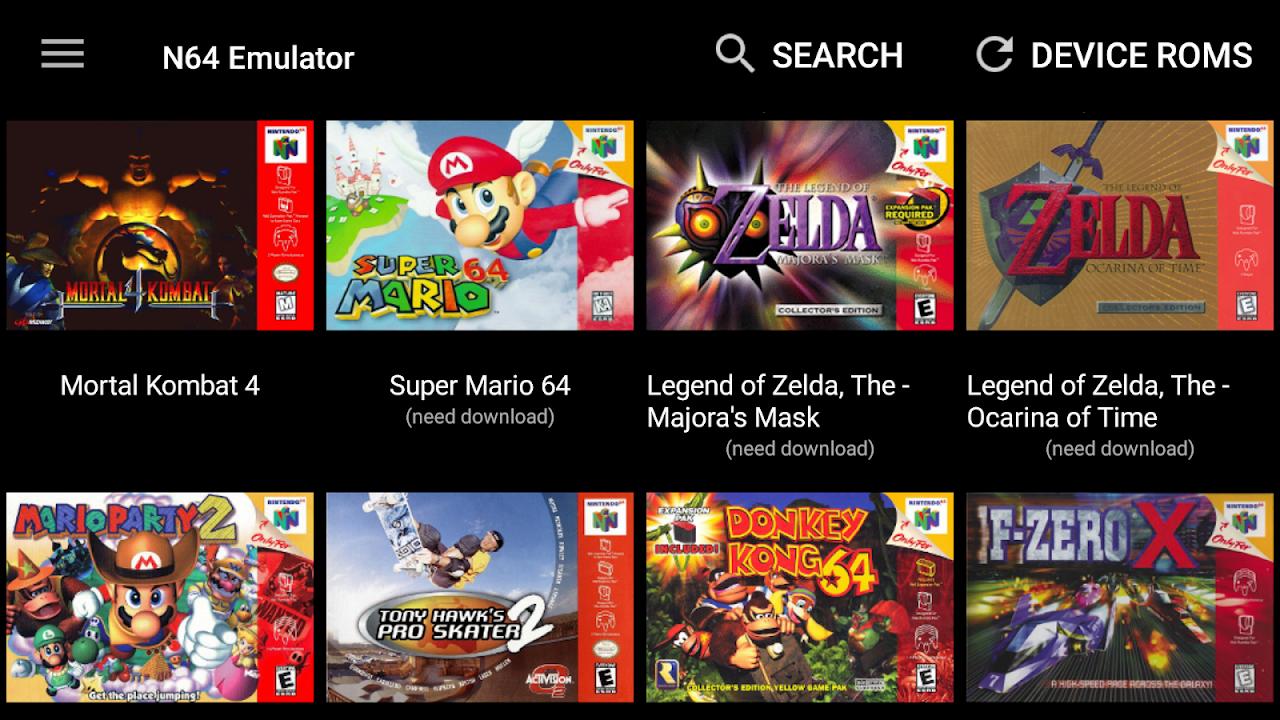 N64 Emulator - N64 Collection - Mupen64 DroidX screenshot 2