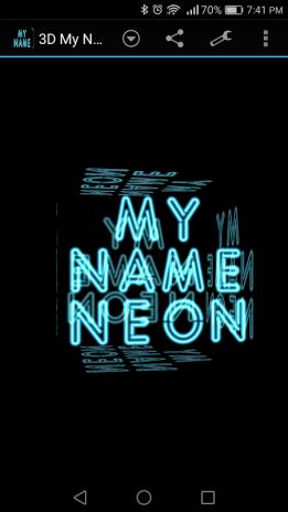 3d My Name Neon Live Wallpaper 7