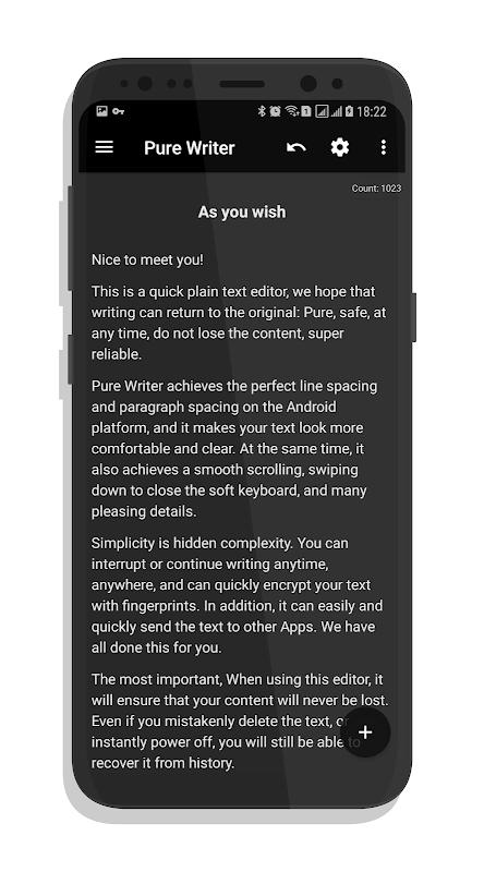 Pure Writer - Never Lose Content Editor screenshot 2