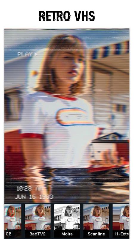 Glitch Foto Editor -VHS, efeito, vaporwave screenshot 1