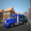 Autotransporter LKW-Antrieb 3D